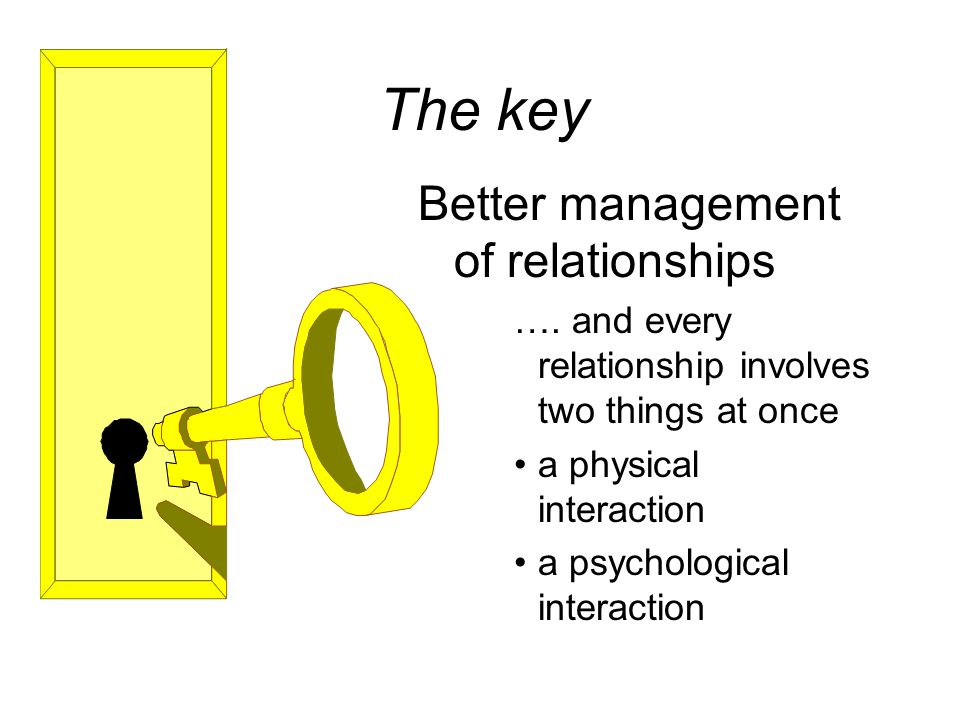 The key Better management of relationships ….