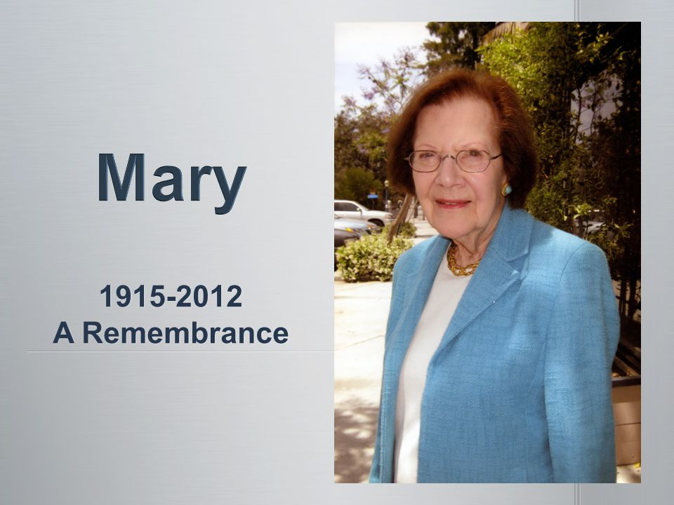 1915-2012 A Remembrance