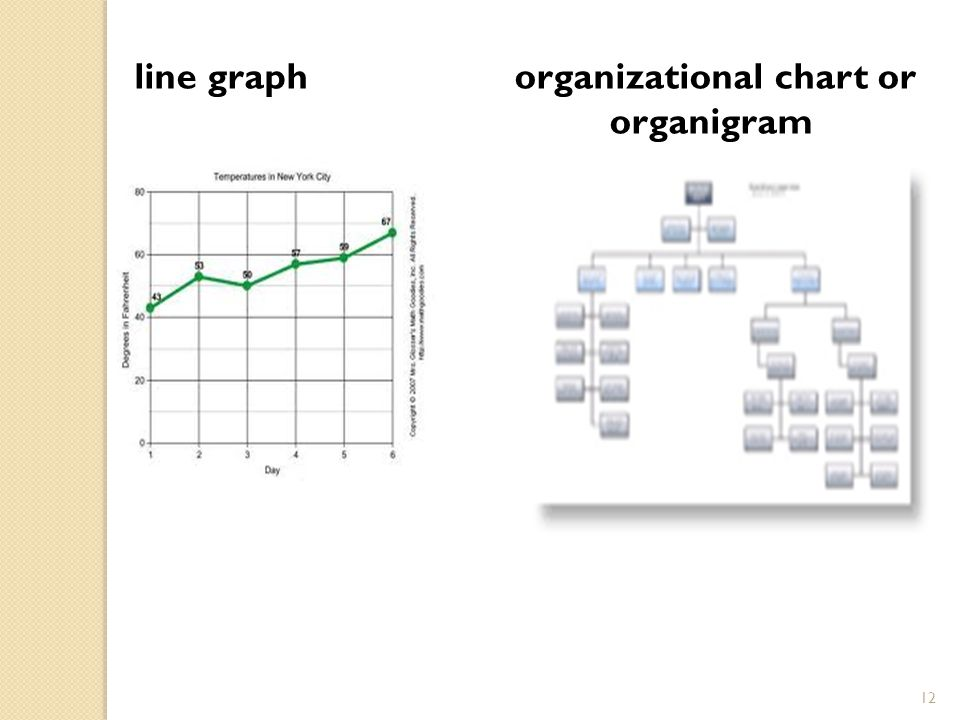 12 line graph organizational chart or organigram