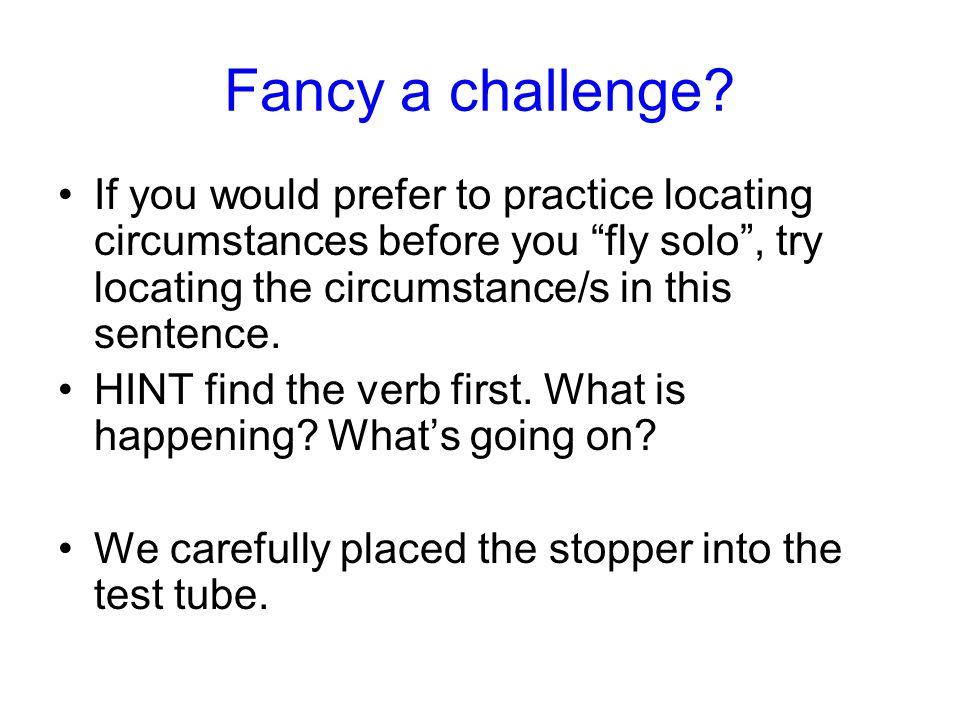 Fancy a challenge.
