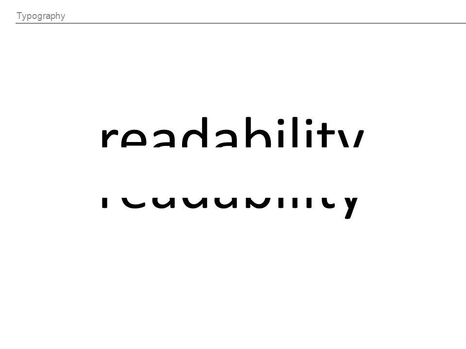 Typography readability