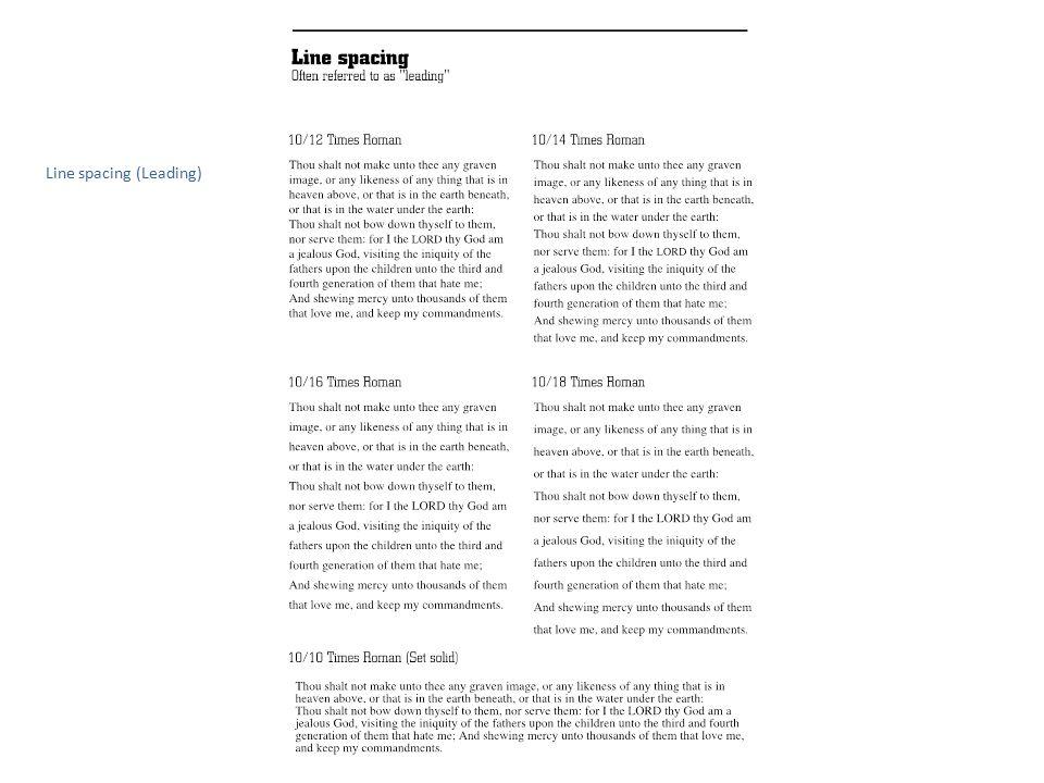 Line spacing (Leading)