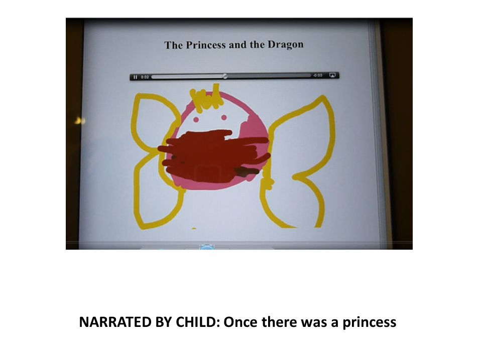 NARRATED BY CHILD: Once there was a princess