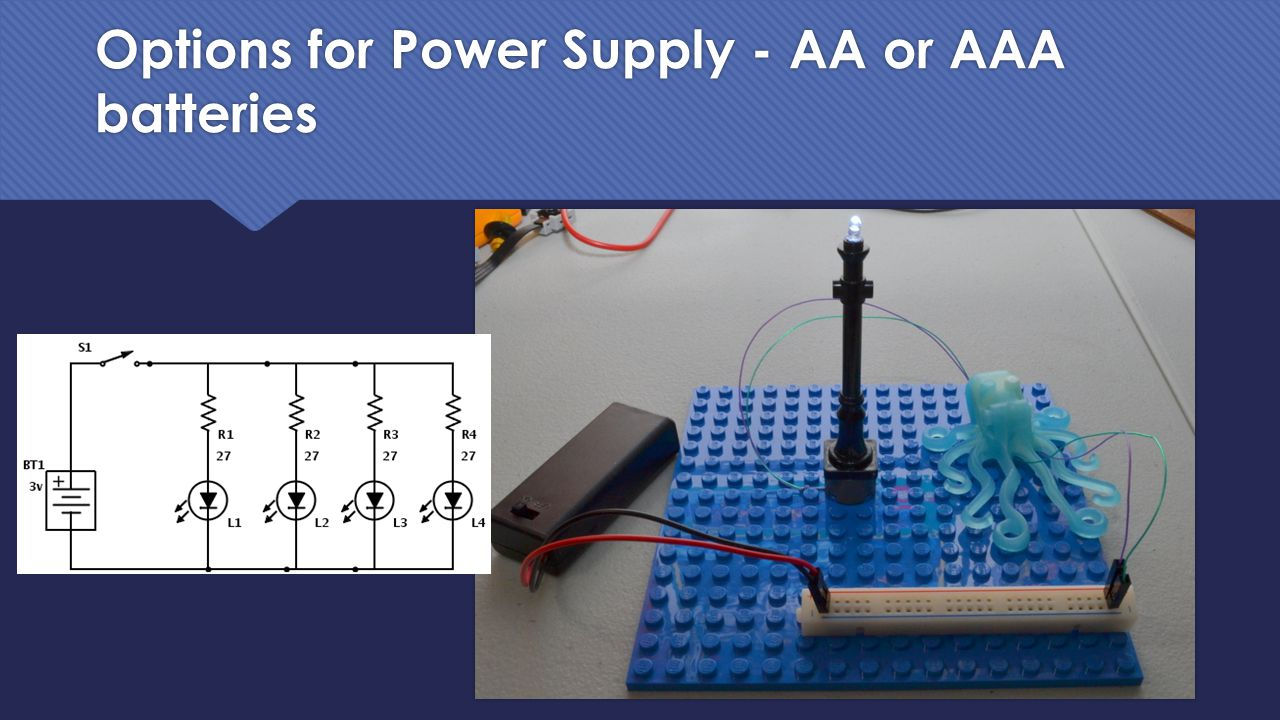 Options for Power Supply - AA or AAA batteries