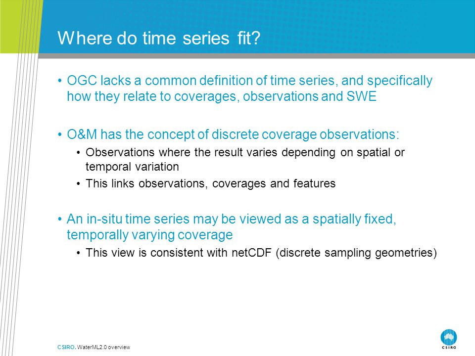 Where do time series fit.