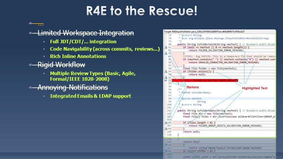 ...Limited Workspace Integration Full JDT/CDT/...