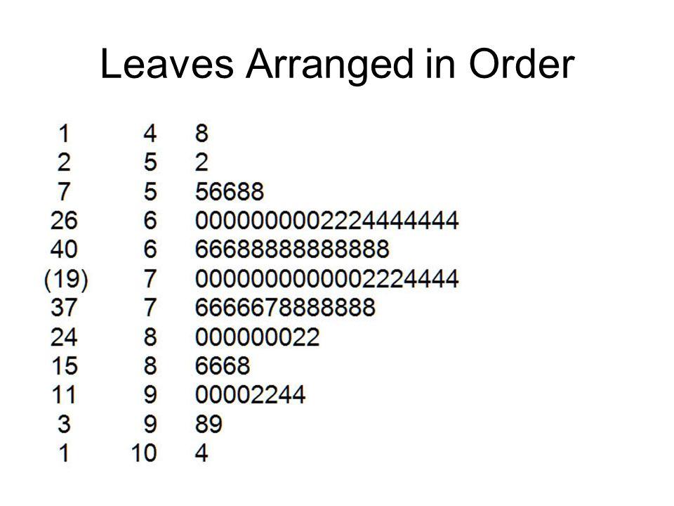 Leaves Arranged in Order