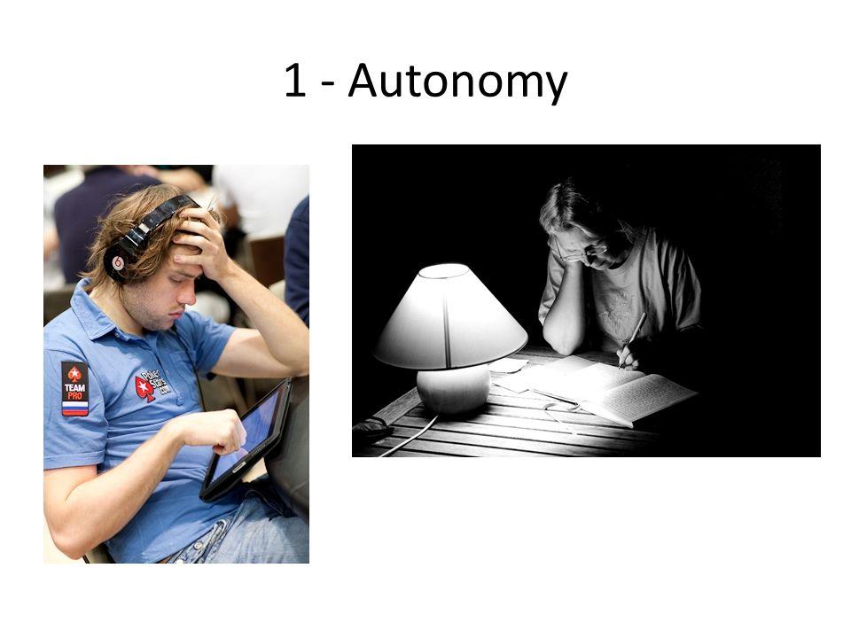 1 - Autonomy