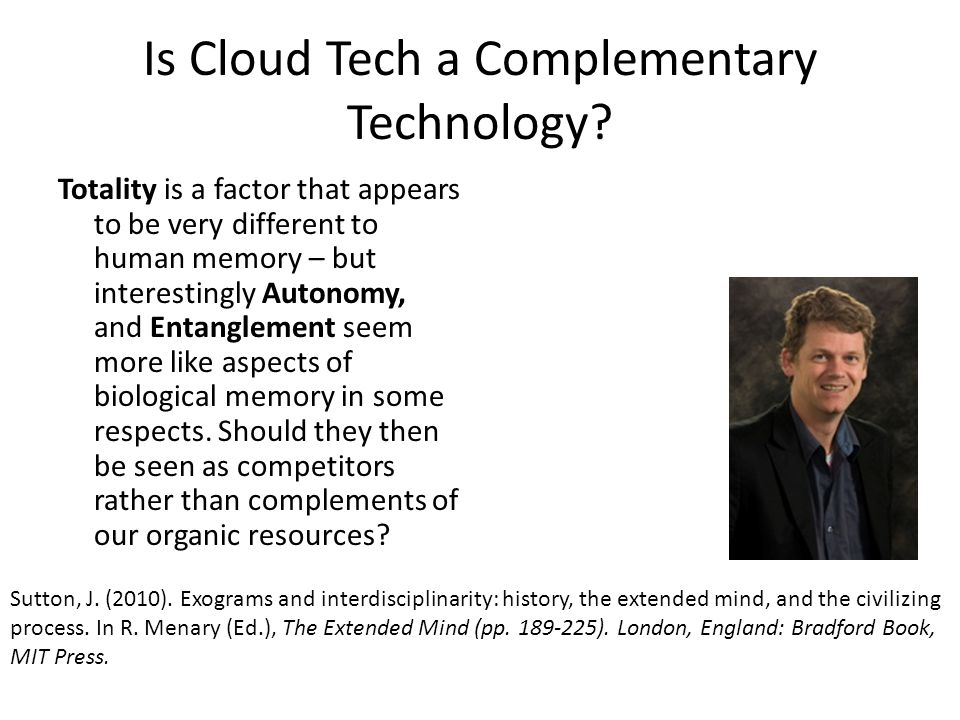 Is Cloud Tech a Complementary Technology.