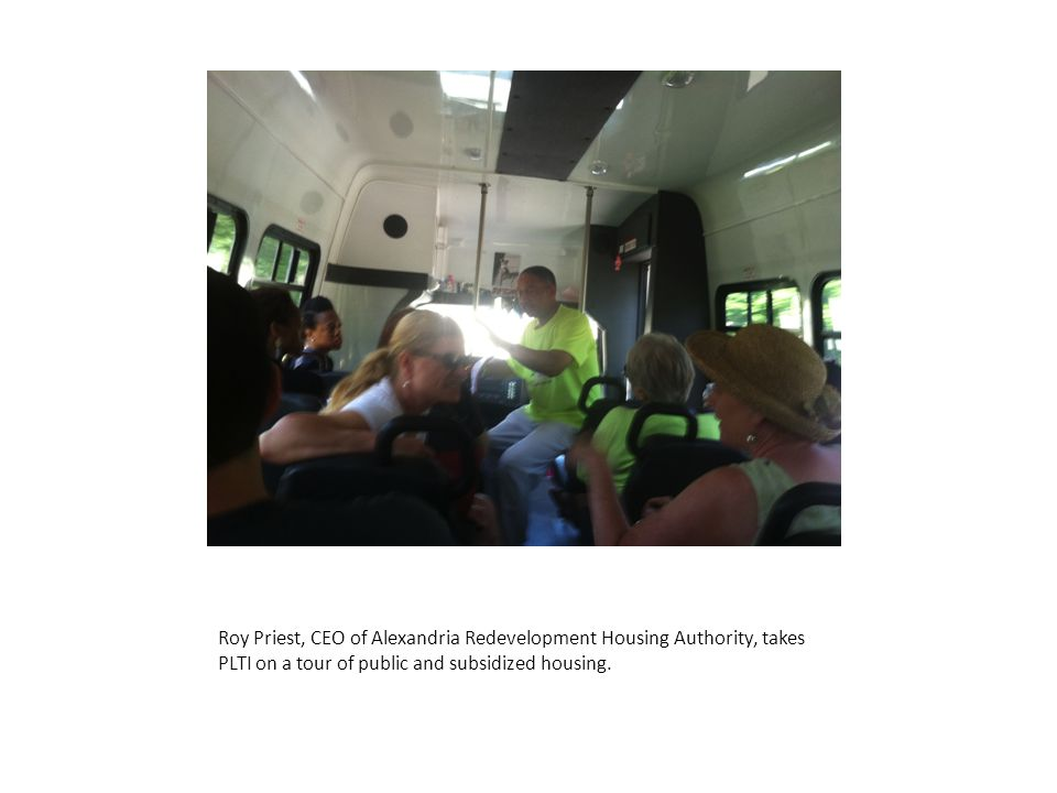 Roy Priest, CEO of Alexandria Redevelopment Housing Authority, takes PLTI on a tour of public and subsidized housing.