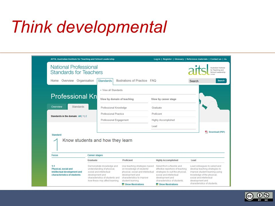 Think developmental