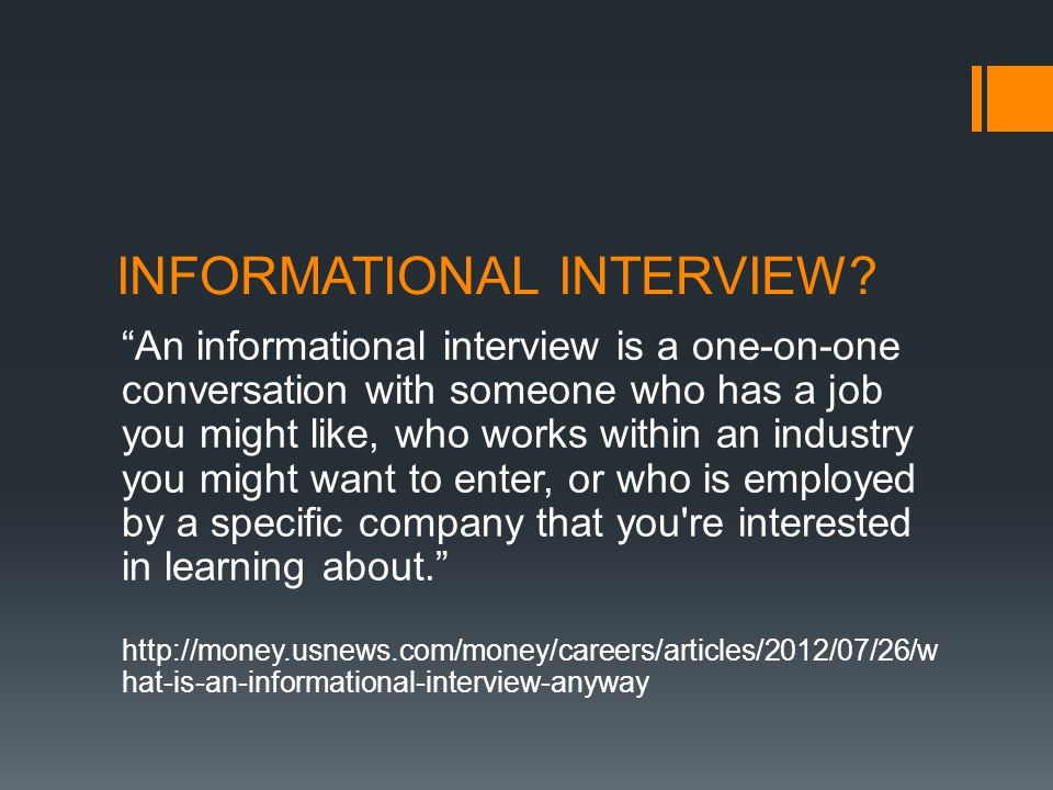 WHO SHOULD YOU INTERVIEW?