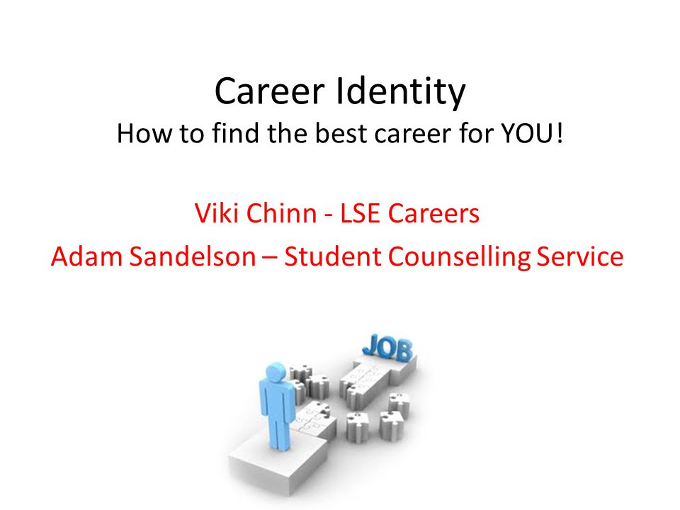 Career Identity How to find the best career for YOU.
