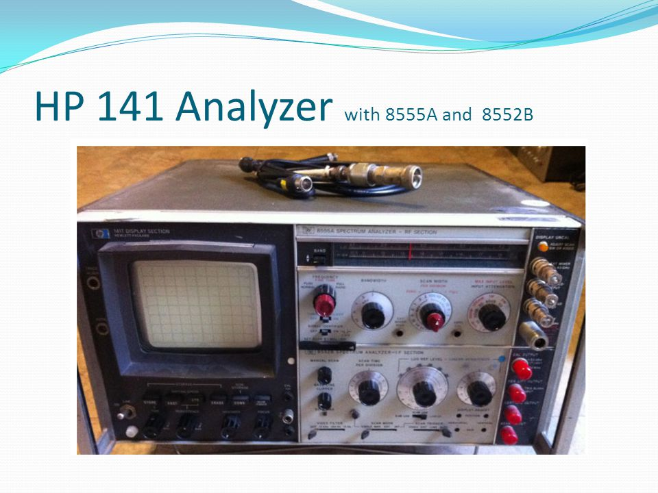HP 141 Analyzer with 8555A and 8552B