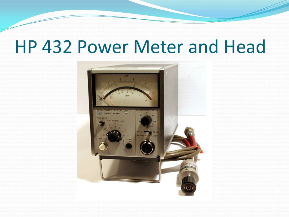 HP 432 Power Meter and Head