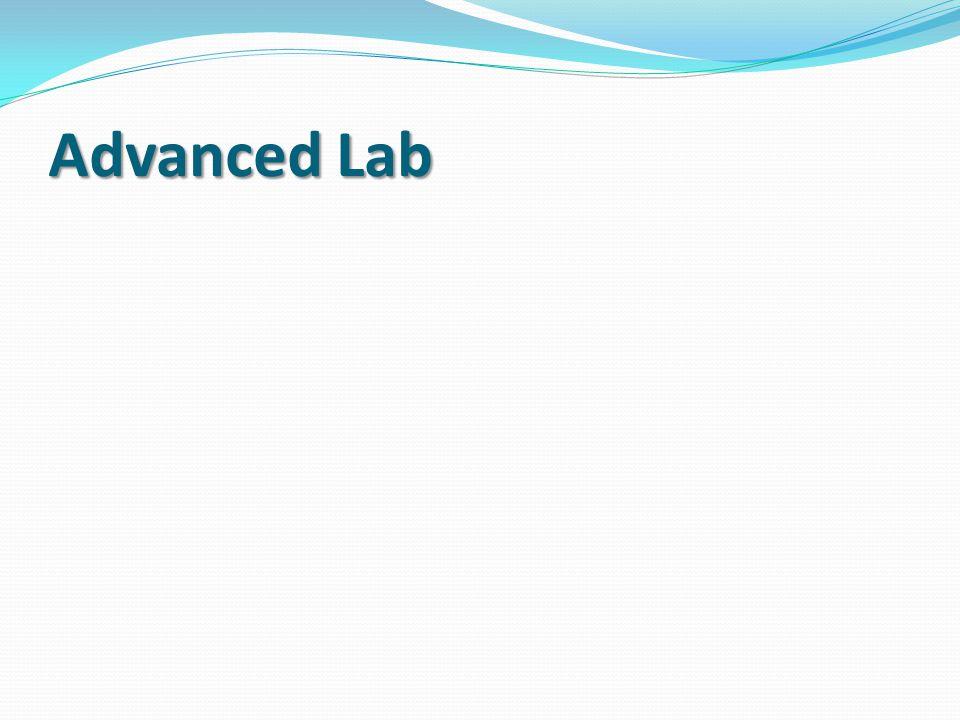 Advanced Lab
