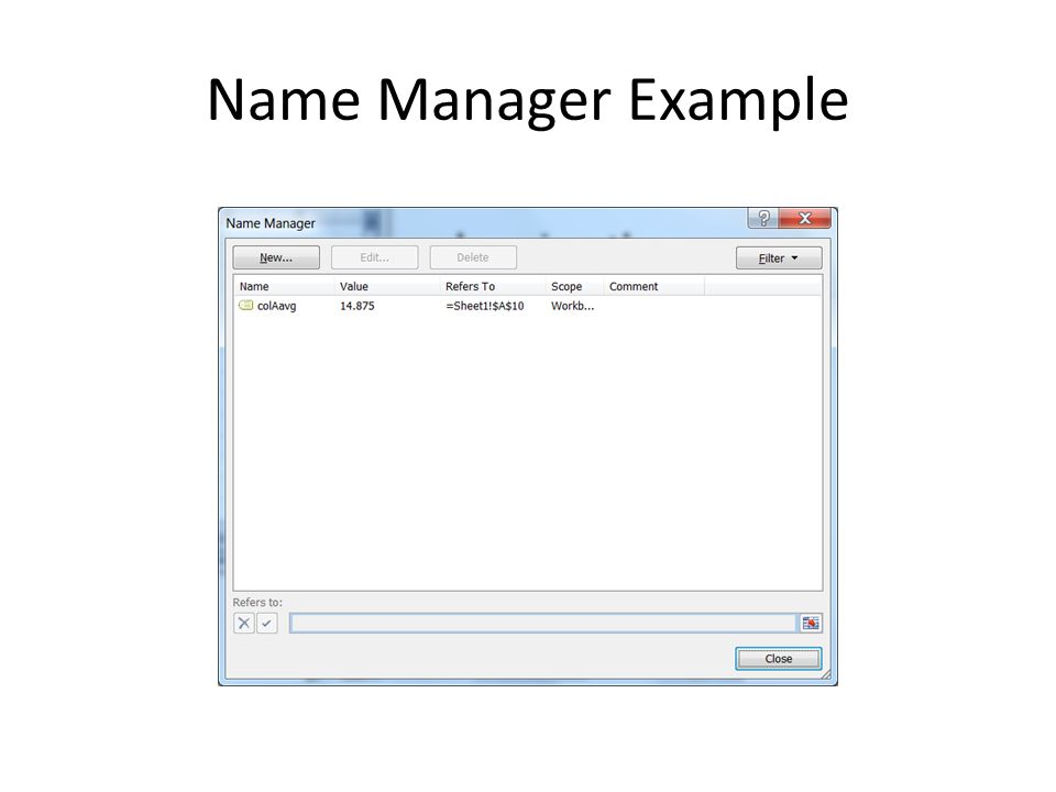 Name Manager Example