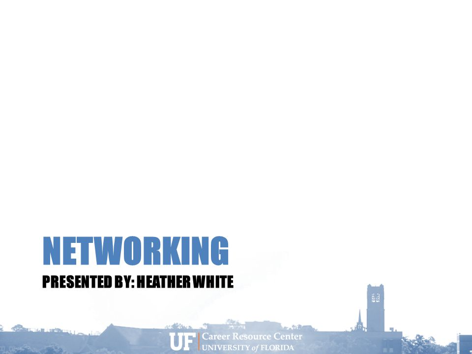 NETWORKING PRESENTED BY: HEATHER WHITE