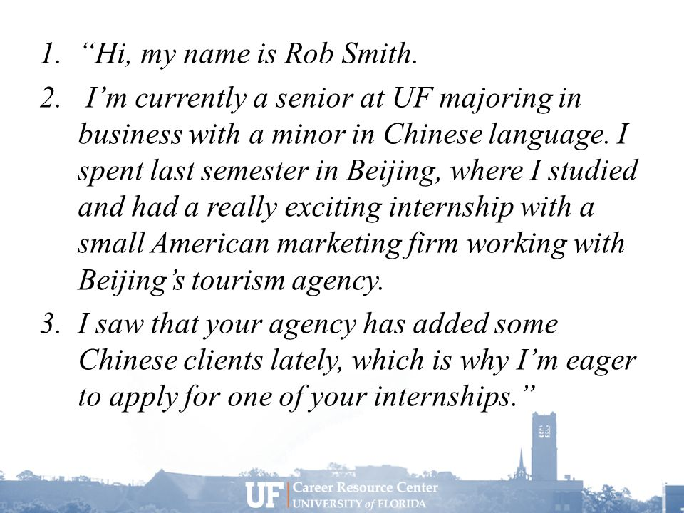 1. Hi, my name is Rob Smith. 2.