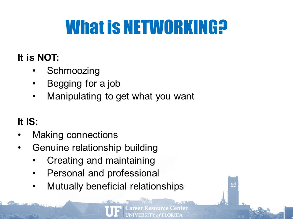 What is NETWORKING.