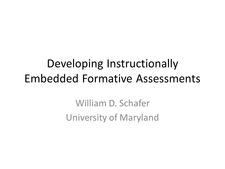 Formative assessments are needed in much greater volume than summative assessments They are used more often, even though any one of them is used with fewer students Fortunately, their linkage with instruction may provide a way to develop them efficiently and effectively I will turn to a mechanism that could generate, evaluate, and disseminate formative assessments embedded in instructional units.