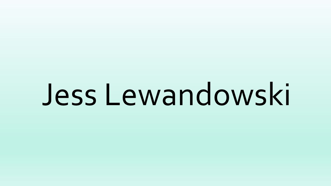 Jess Lewandowski