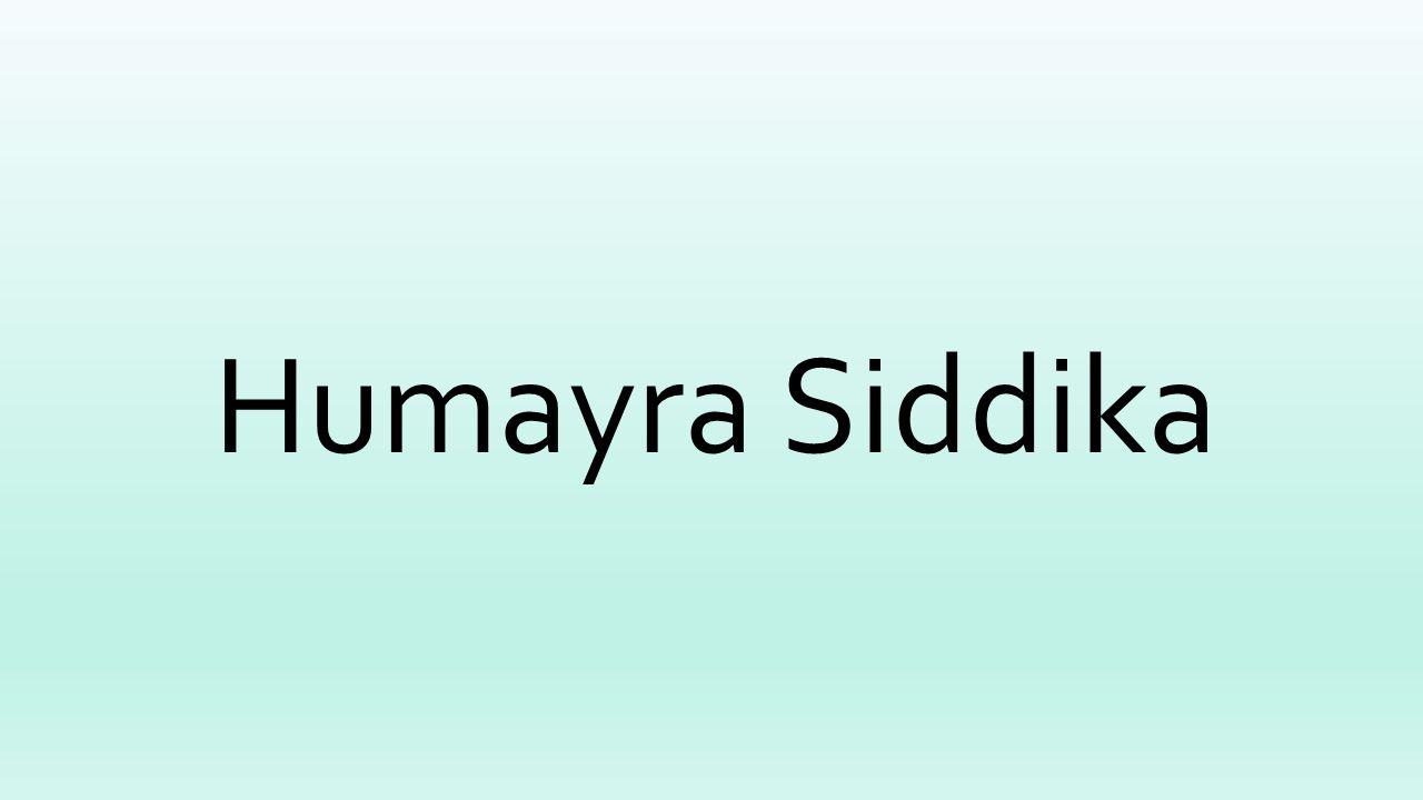 Humayra Siddika