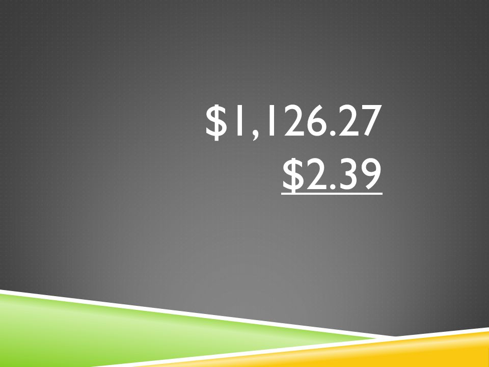 $1,126.27 $2.39