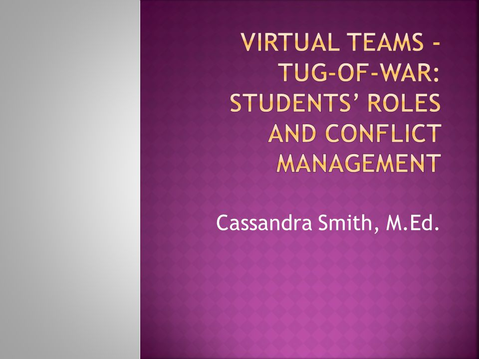  Understand different student roles that might emerge in virtual teams.
