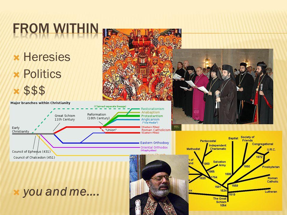  Heresies  Politics  $$$  you and me….