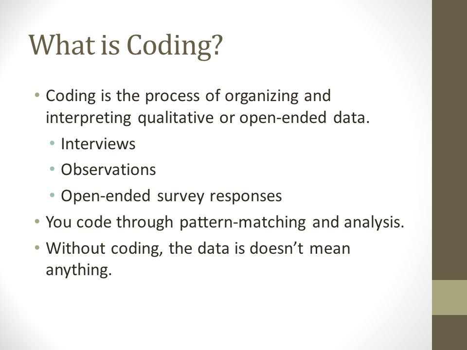 What is Coding.