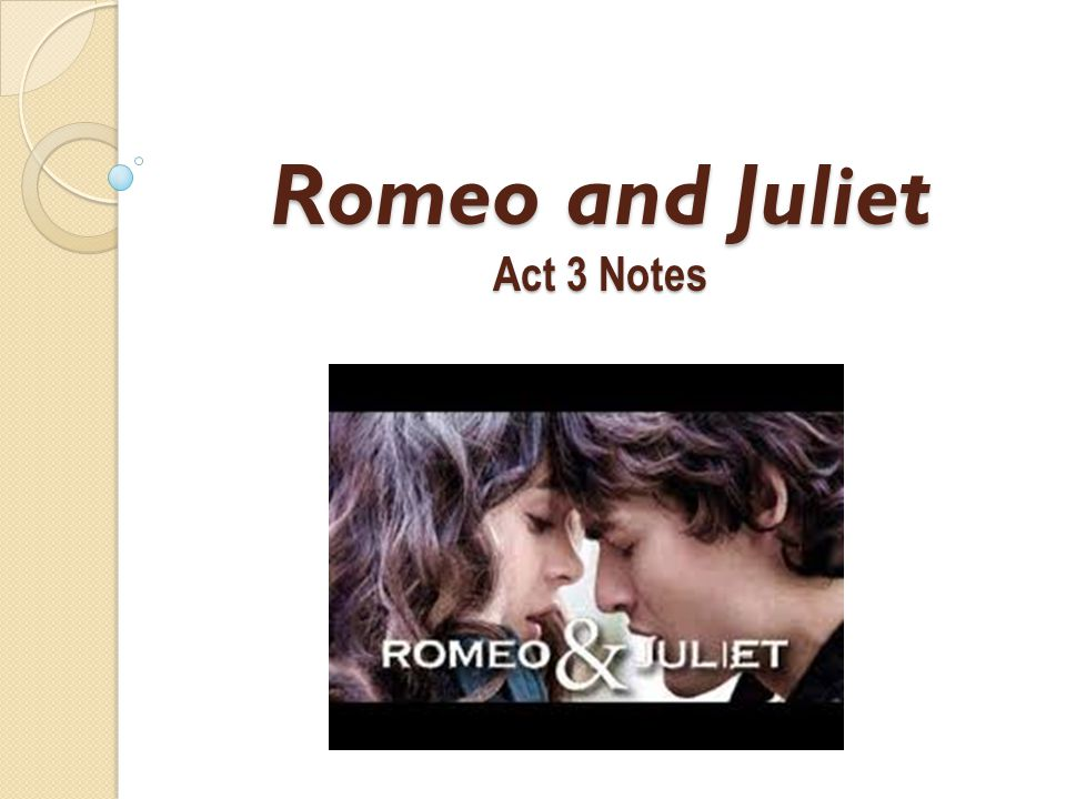 Act 3, Scene 4 Scene 4 occurs while Romeo is upstairs with Juliet at the Capulet's.