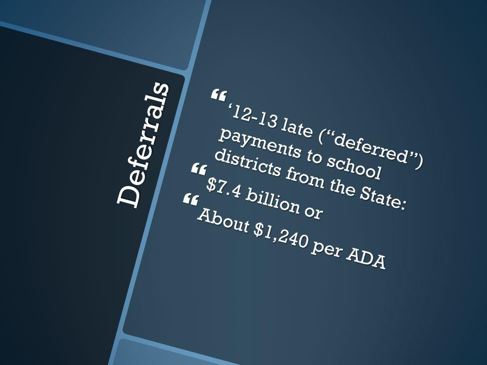 By Grade Span  Based upon grade spans:  K-3: $6,342 per ADA  4-6: $6,437  7-8: $6,628  9-12: $7,680