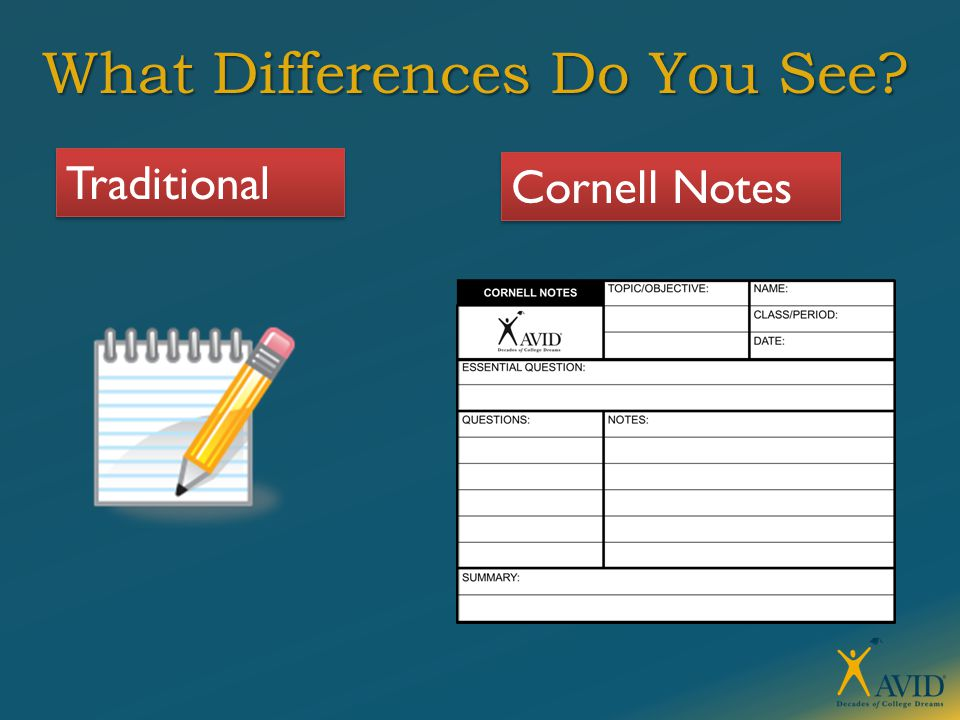 What Differences Do You See Traditional Cornell Notes