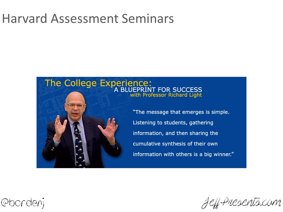 Harvard Assessment Seminars