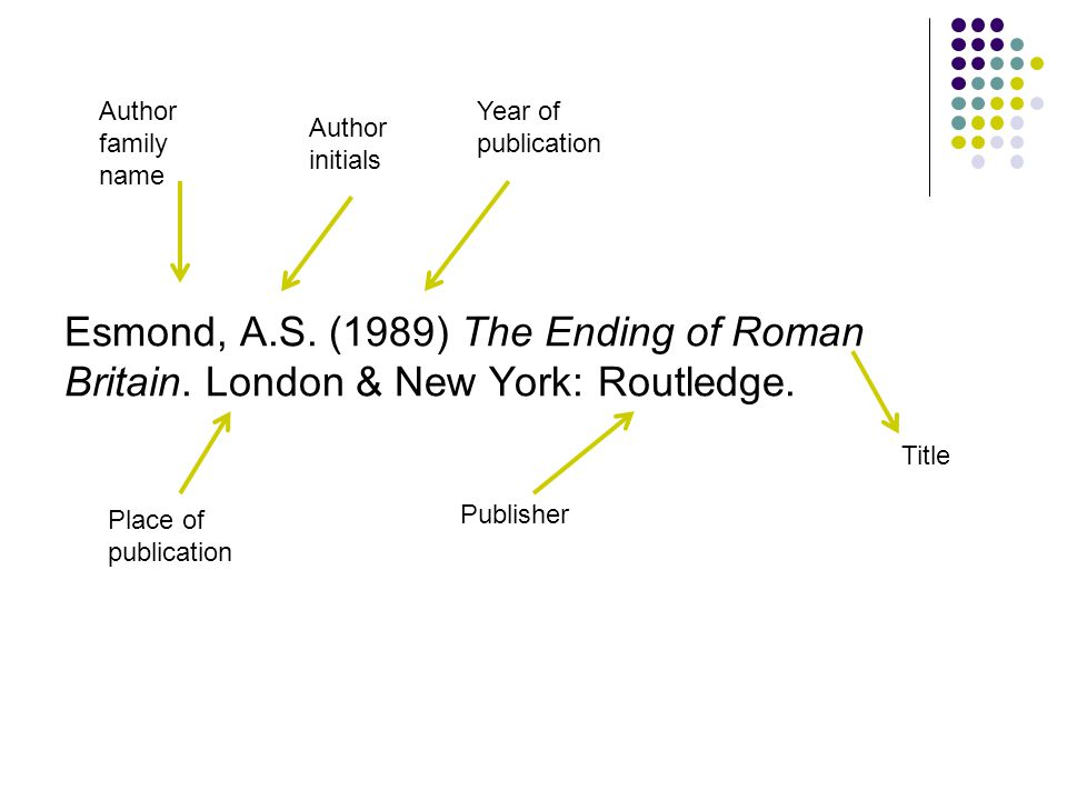 Esmond, A.S. (1989) The Ending of Roman Britain. London & New York: Routledge.