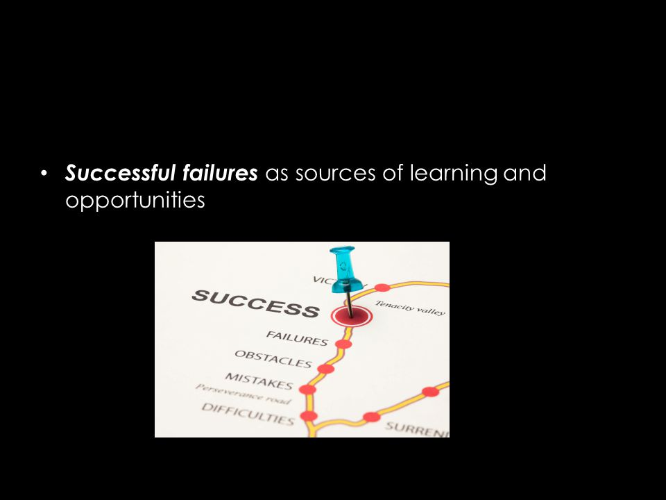Successful failures as sources of learning and opportunities