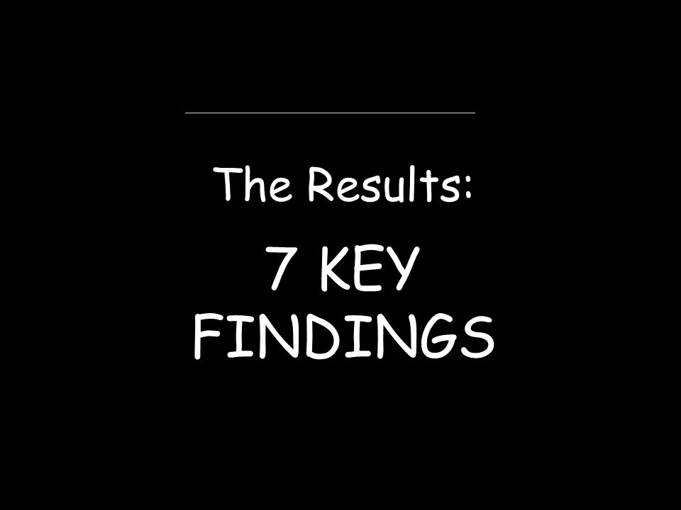 The Results: 7 KEY FINDINGS