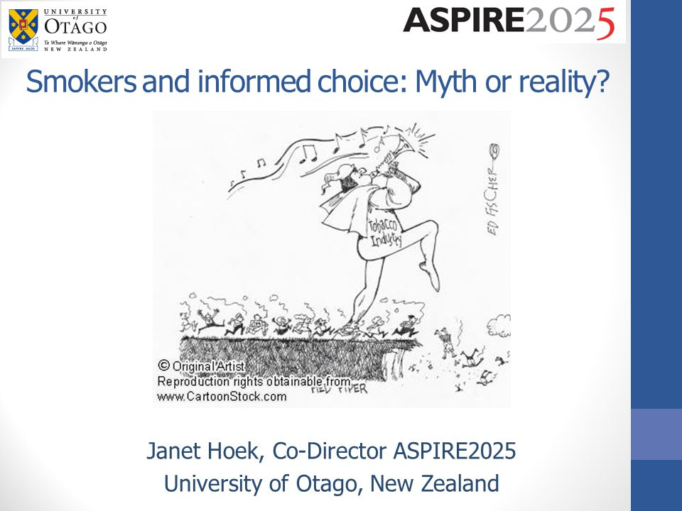 Smokers and informed choice: Myth or reality.
