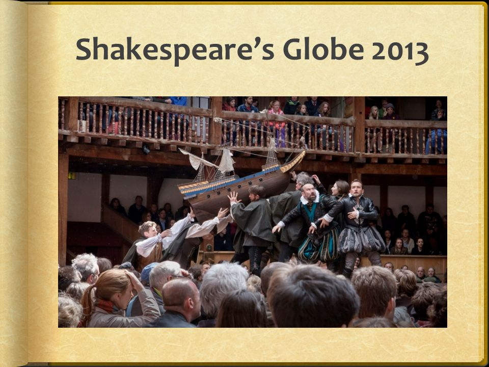 Shakespeare's Globe 2013