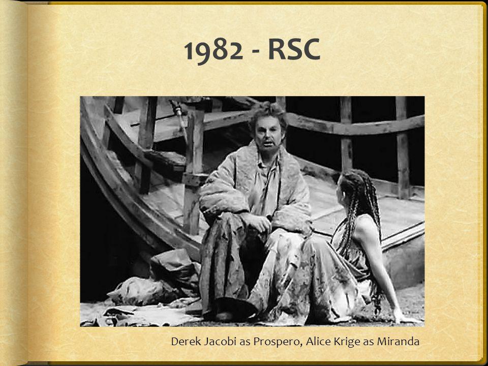 1982 - RSC Derek Jacobi as Prospero, Alice Krige as Miranda