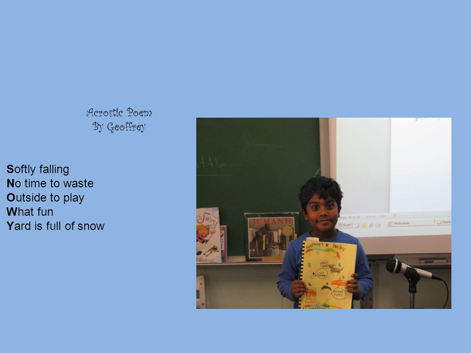I Am Poem By Rebecca I am snow. I wonder what it feels to melt.