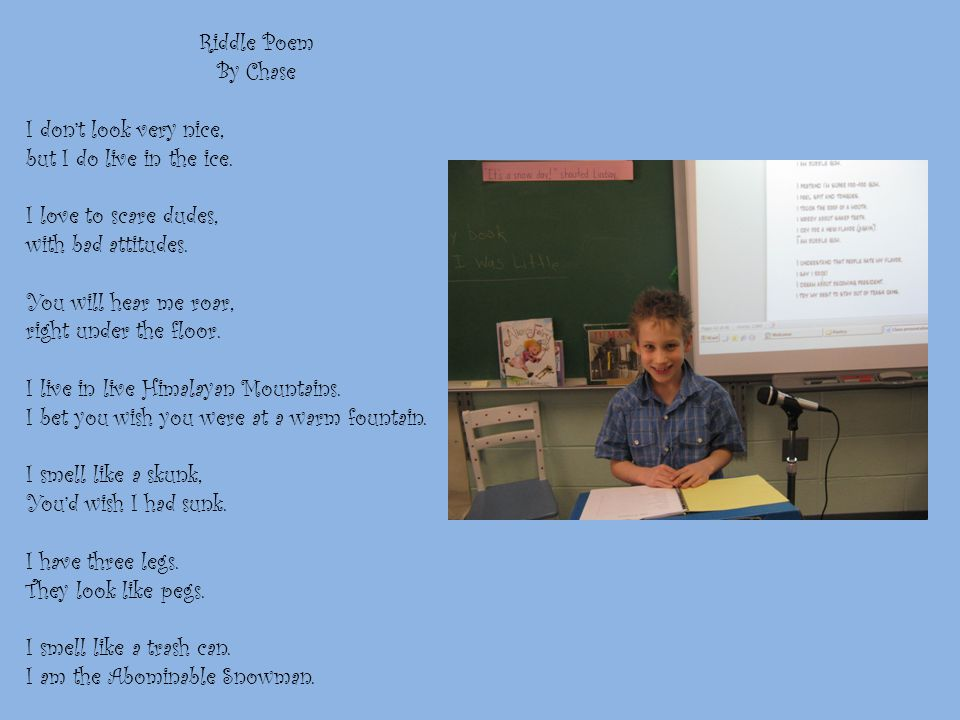 I Am Poem by Chase I am bubble gum. I wonder about dog spit.