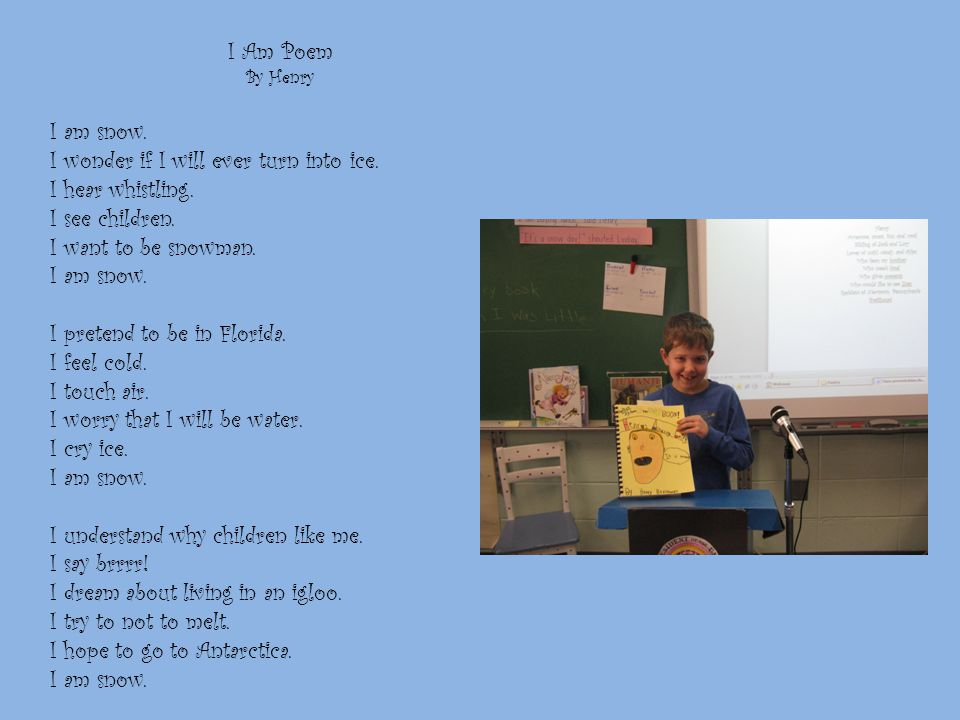 I Am Poem By Connor I am a mouse. I wonder if I'll ever get eaten.