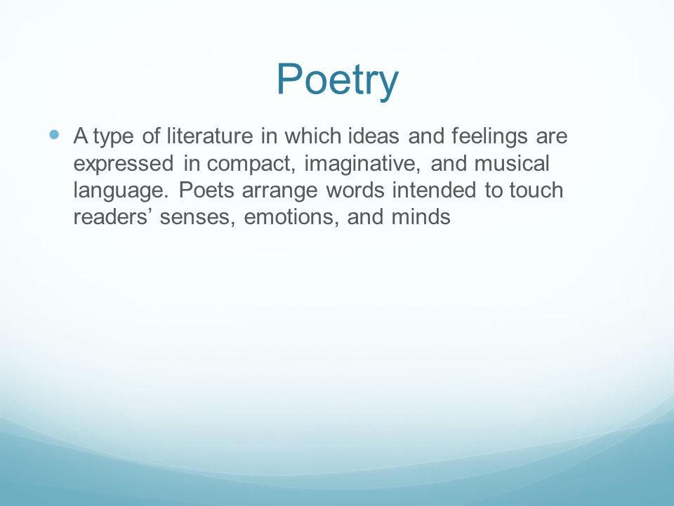 Rhythm The pattern of sounds created by the arrangement of stressed or unstressed syllables.