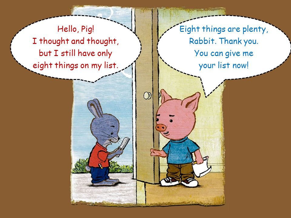 Number 9 – I love Rabbit because he's funny. Number 10 – I love Rabbit because he's my friend.