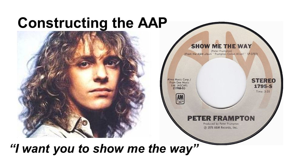 Constructing the AAP I want you to show me the way
