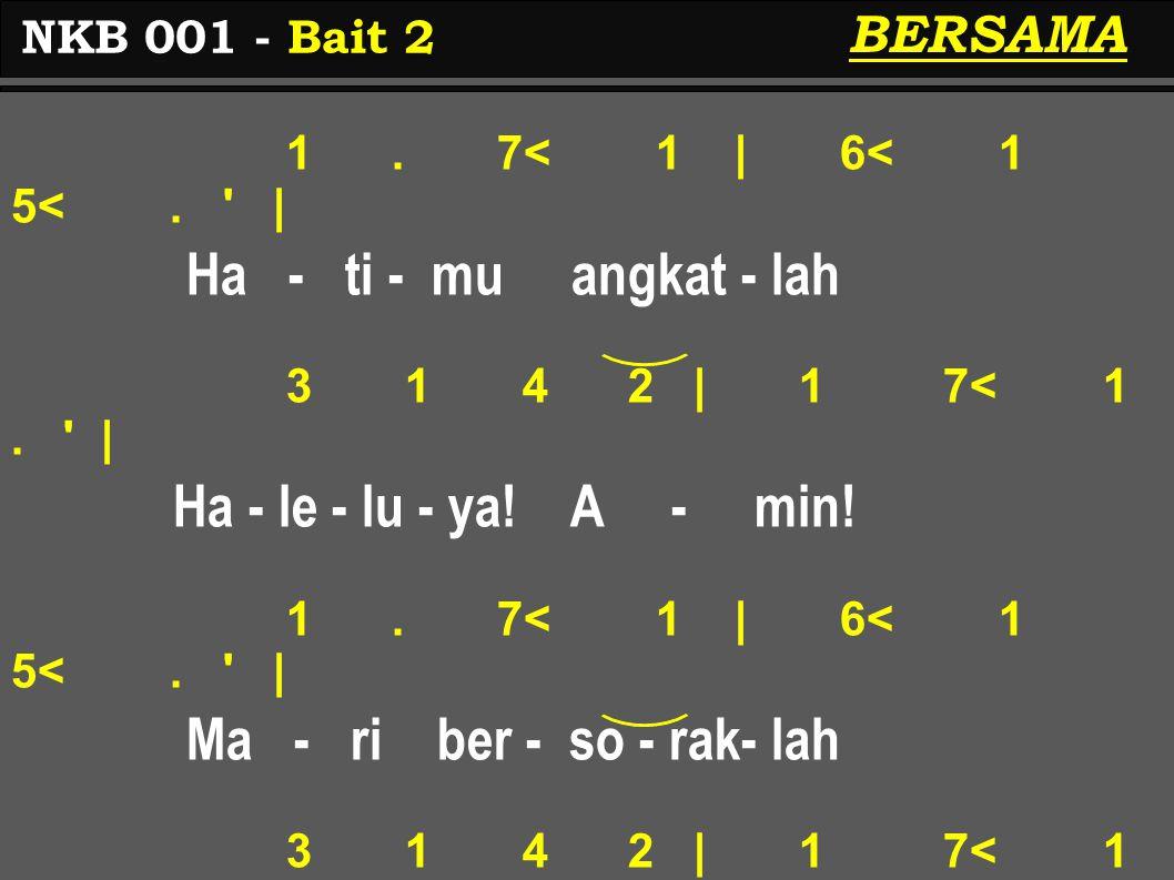 3.2 3 | 4 3 2. | Tu - han Sa - ha - bat-mu 3. 2 3 | 4 3 2.