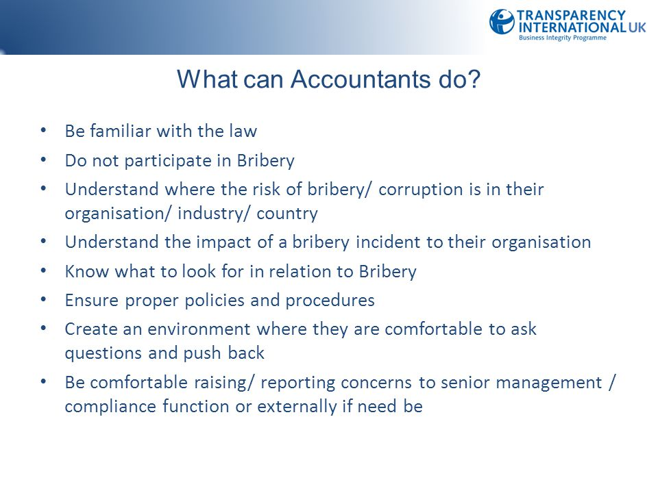 What can Accountants do.