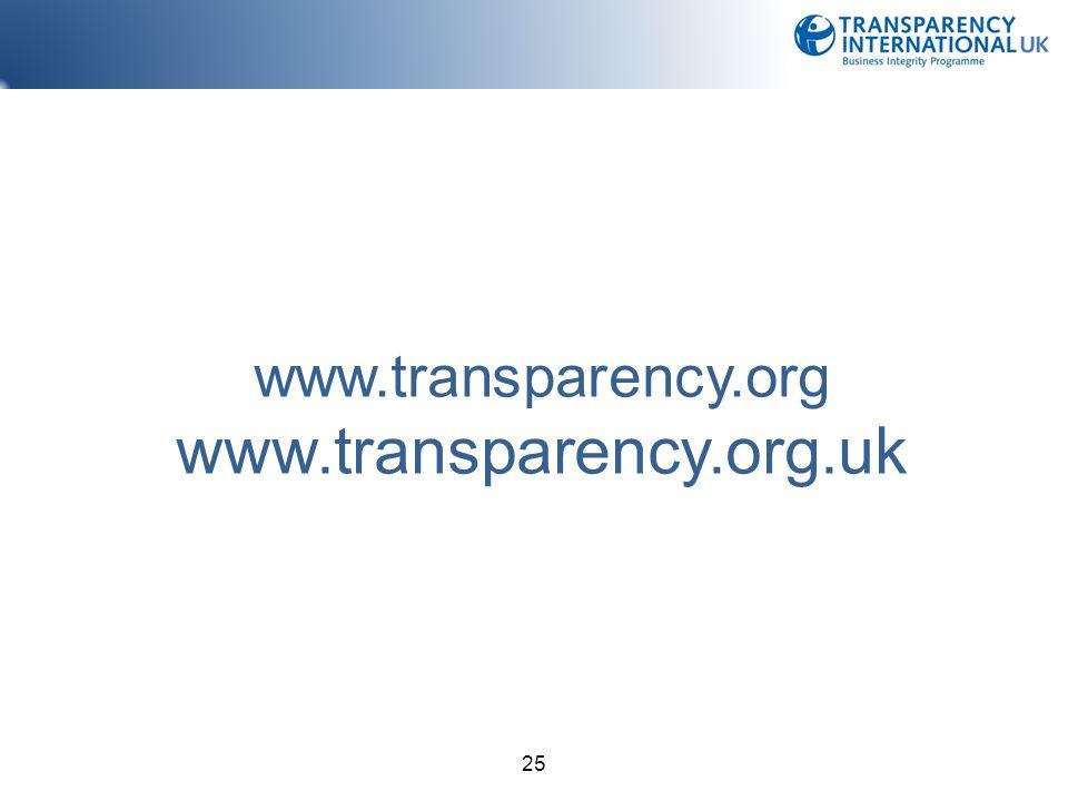 25 www.transparency.org www.transparency.org.uk